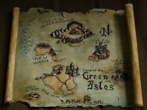 Land of the Green Isles map